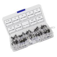 72 Stück 6x30mm Feinsicherung Glassicherung Glasrohr assortierte Kit Amp 0.5A 1A 2A 3A 5A 10A 15A 20A 30A mit Box