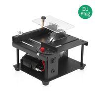 Multifunktionale Tischkreissaege Mini Desktop Saegeschneider Elektrische Schneidemaschine mit Saegeblatt Winkelverstellung mit einstellbarer Geschwindigkeit 35 mm Schnitttiefe fuer das Schneiden von Holzkunststoff-Acryl