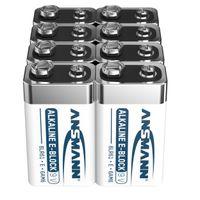 ANSMANN Alkaline longlife 9V Block Batterien (8 Stück) - ideal für Rauchmelder