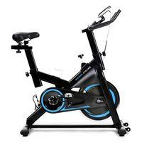 Heimtrainer Fahrrad Speedbike Fitnessgerät 10 kg Schwungrad LCD-Konsole Fitnesstrainer geräuschloser verstellbare Armlehne und Sitz Fitnessfahrrad max 120kg tragen blau