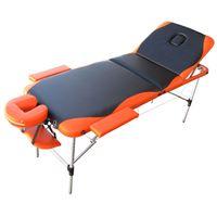 Massageliege Alu Belastbarkeit bis 230 kg, Orange