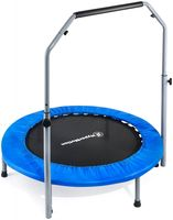 Mini-Trampoline 96 cm mit Handgriff für Kinder und Jugendliche, Indoor und Outdoor Fitness Trampoline, Freizeit-Trampolin mit Griff