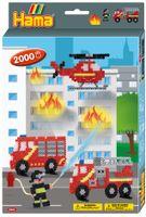 """Hama Bügelperlen midi """"Feuerwehr"""" Geschenkpackung 2.000 Bügelperlen"""