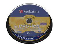 Verbatim DVD+RW Matt Silver, Tortenschachtel