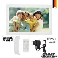 "12"" 1280*800HD Digital Bilderrahmen Fotorahmen Wecker Player Album Fernbedienung"