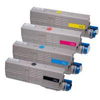 Kompatibel Set 4x Toner XXL für Oki C532 C542 MC563 MC573 von ABC