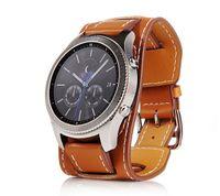 22mm Uhr Armband Leder Strap Uhrenarmband Für Samsung Gear S3 Galaxy Watch 46mm Braun