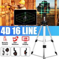 MUSTOOL 16 Line Laser Level Wasserwaage 4D 360° Kreuzlinienlaser Linienlaser Measure + 1,2m Stativ