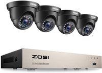 ZOSI FHD Video Überwachungssystem 8CH H.265+ 1080P DVR mit (4) 2MP Außen Dome Überwachungskamera ohne Festplatte