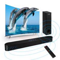 2.1 Soundbar mit Subwoofer bluetooth5.0 surround Tv Soundbar Fernbedinung Berührungssteuerung Optische AUX USB Koaxial für PC TV Handy