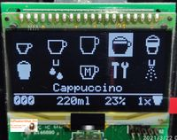 Ersatz Display Modul für Nivona Display Unit EF691 EF 0069348 NICR 83x/84x/85x - Weiß