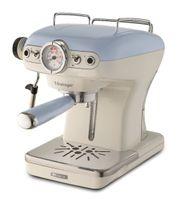 Vintage Siebträger-Espressomaschine blau