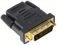 mumbi HDMI auf DVI Adapter - vergoldet +  - DVI-D Stecker (24+1) auf HDMI Buchse (19pol) Adapter / Full HD 1080p