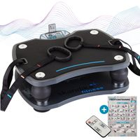 Skandika Vibrationsplatte 500 mit 3D Vibrations Technologie | Trainingsbänder | Fernbedienung | 4 Programme + 20 Stufen