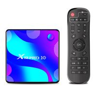 X88 PRO 10 Android 10.0 Smart-TV-Box UHD 4K-Mediaplayer RK3318 4 GB / 64 GB 2,4 G / 5 G Dualband-WLAN BT4.0 100 M LAN-Digitalanzeige VP9 H.265 Decodierung