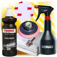 Sonax Profiline Glaspolitur Set + Polierteller + Dorn + Sprühboy + 3M Polierfilz