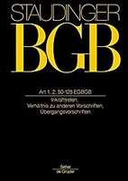 Staudinger BGB Art 1, 2, 50-218 EGBGB