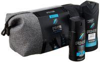 Axe Geschenkset Alaska Bodyspray 150ml & Duschgel 250ml mit Washbag, Kulturtasche