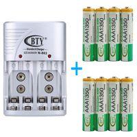 Universal Batterie Battery Akku Ladegerät Charger Netzteil Aufladegerät für AA AAA 9V + 8x AAA Akku