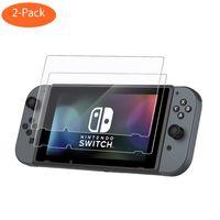 2x Nintendo Switch Panzerglas Schutzfolie Bildschirm Schutzglas 9H Full Sreen Echtglas Screen Protector Glasfolie