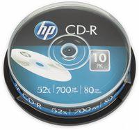 10 HP Rohlinge CD-R 80Min 700MB 52x Spindel