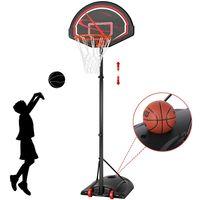 Yaheetech Basketballkorb Basketballständer  Basketballanlage Standfuß mit Wasser Höheverstellbar 170 bis 230 cm