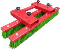 Staplerbesen Anbaugerät 140 cm Rot Stapler Kehrbesen Besen für Stapler Werkstatt oder Betrieb