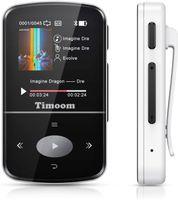 Timoom MP3-Player, Mini Bluetooth Sportplayer mit 32 GB, verlustfreies tragbares X56-HiFi, FM-Radio, intelligenter Schrittzähler, Fotos, Aufnahmen, E-Book, Unterstützung von bis zu 128 GB