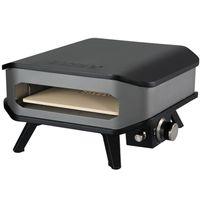 COZZE® Pizza-Gas-Ofen Profi bis 400° Grad mit 34x34 cm Pizzastein - tragbarer Pizzaofen Steinofen-Pizza für Terrasse, Balkon Garten Camping
