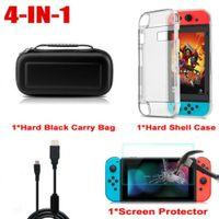 Für Nintendo Switch Tasche Bag EVA Case+Schutzhülle+Ladekabel+Temper Glass Folie