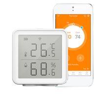 WiFi Smart Temperatur-Feuchtigkeitssensor Kompatibel mit Alexa Google Assistant 230 Fuss Super Long Range Wireless Digital Hygrometer Innenthermometer Feuchtigkeitsmesser Temperatur Feuchtigkeitsueberwachungssensor