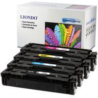 Liondo 4 Toner Kompatibel zu HP CF540A CF541A CF542A CF543A - 203A - HP Color LaserJet Pro MFP M254dw/nw M280nw M281fdn/fdw