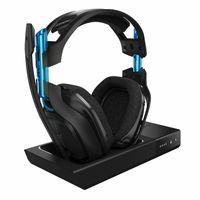 Astro Gaming A50 Wireless Dolby 7.1 Headset, Schwarz - Blau inkl. wireless MixAmp für PS3, PS4, PS5, PC, MAC Wie NEU