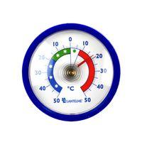 Lantelme Rundes Kühlschrankthermometer blau