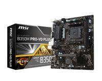 MSI B350M PRO-VD PLUS, AMD, Socket AM4, AMD A, AMD Athlon, AMD Athlon X4, AMD Ryzen 3, 2nd Generation AMD Ryzen™ 3, AMD Ryzen 5, 2nd..., DDR4-SDRAM, DIMM, 1866,2133,2400,2667,2933,3200 MHz
