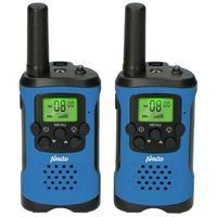 Alecto FR-115BW - Set von zwei Funkgeräten für Kinder - Reichweite von bis zu 7 Kilometern, blau/schwarz