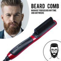 Miixia Fast Beard Straightener Comb Glätteisen Bart Haarkamm Haarglätter Bürste Männer