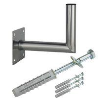 PremiumX 25-30cm Wandhalter Stahl verzinkt SAT Wandhalterung Schraubensatz
