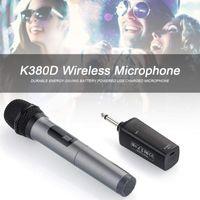 K380D Tragbares drahtloses Bluetooth-Mikrofon Karaoke KTV Party Music Singmikrofon Grau