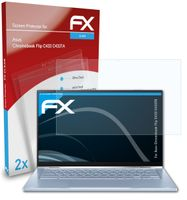 atFoliX FX-Clear 2x Schutzfolie kompatibel mit Asus Chromebook Flip C433 (C433TA) Displayschutzfolie