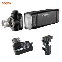 Godox AD200Pro Pocket Flash Tragbarer, kabelloser TTL-Blitz mit wechselbarem Blitzkopf (Speedlite / nackte Gluehbirne) GN52 GN60 1 / 8000s HSS 2.4G X-System mit 200 W fuer Nikon Fujifilm Olympus Panasonic EOS-Kameras von Canon