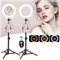 Selfie Flash LED Ringlicht + Handyhalter + Spiegel + Fernbedienung für Kamerahandy
