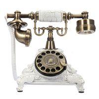 Retro Vintage Telefon Wählscheiben Festnetztelefon Anrufer-ID Schnurgebundene