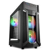 Sharkoon VG6-W RGB - Midi ATX Tower - PC - Schwarz - ATX,Micro ATX,Mini-ATX - Gaming - Rot/Grün/Blau