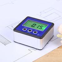 Digitaler LCD Winkelmesser Neigungsmesser Inklinometer Wasserdicht Bevel Box Winkelmessgerät Wasserwaage Elektronische Nivellierbox Magnetfuss Messwerkzeuge - Blau