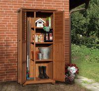 Gartenschrank Holz 15 mm Weka 195 A braun lasiert 88x50x180cm