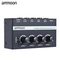 ammoon HA400 Ultra-kompakter 4-Kanal Mini Audio Stereo-Kopfhörerverstärker mit Netzteil