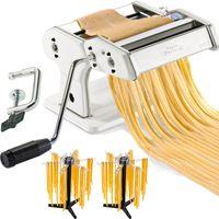 GEFU Pasta-Set 89206 Pasta Perfetta creme-weiß Nudelmaschine + 2 Stück GEFU 28360 Pastatrockner