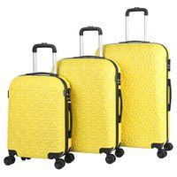 Go2Travel Hartschalen-Koffer 3er Set - Gelb