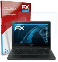 atFoliX FX-Clear 2x Schutzfolie kompatibel mit Acer TravelMate Spin B3 Displayschutzfolie